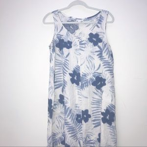 J.jill blue and white floral dress